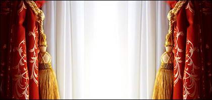 Material de imagen de tela de cortina