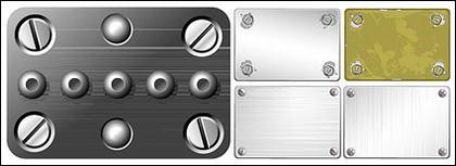 Vis métallique texture vecteur matériel