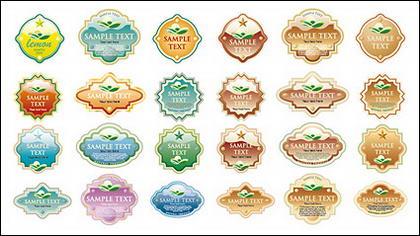 Variété de cristal style matérielles étiquette vect