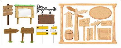Signes de vecteur et matériel de babillard