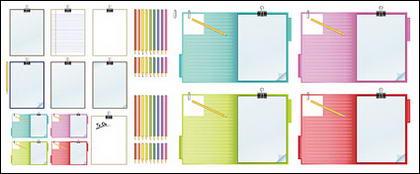 Vecteur matériel feuille de crayon et enregistrement