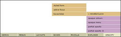 Css indicados: código cssplay prático - se ajustar no menu drop-down na parte inferior da
