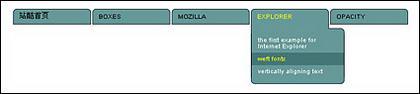Destacado cssplay del código css práctico - en particular el menú desplegable del acuerdo