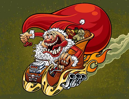 Material de Navidad viejo loco