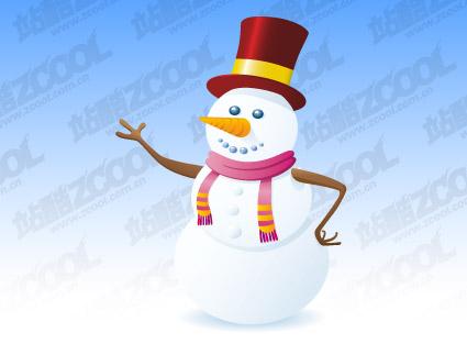 Matériau de vecteur de Bonhomme de neige