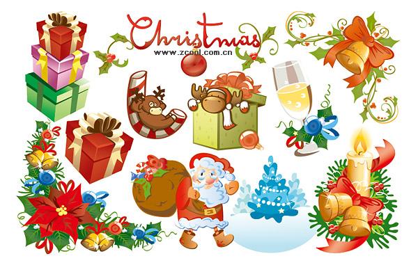 Hermoso y precioso material de vectores de elemento de Navidad