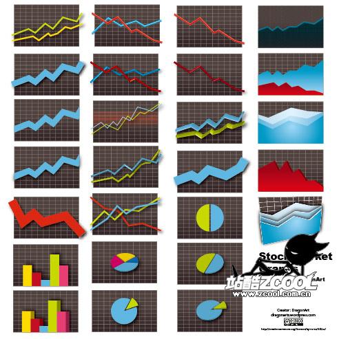 Статистика значок элемента вектора материал