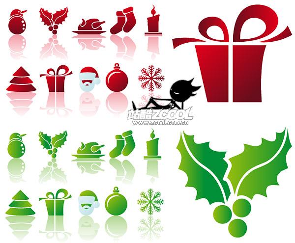Simple Navidad icono material de vectores