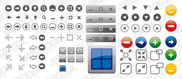 Ventana icono botón material de vectores