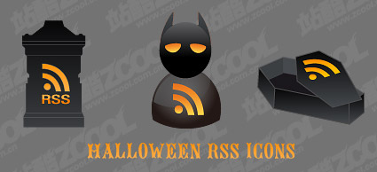 Halloween rss icono material de vectores