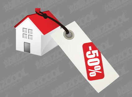 Matériau de vecteur pour le prix de vente maison