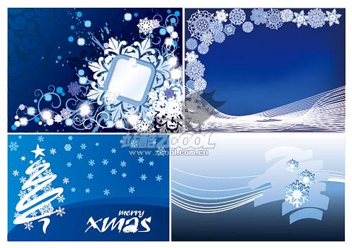 クリスマス雪背景素材をベクトルします。