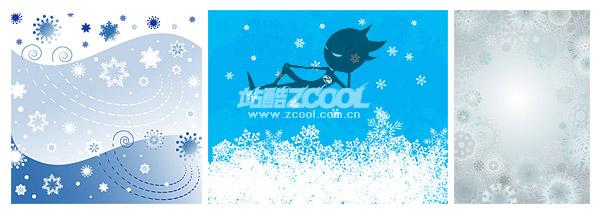 Рождественские снежинки вектор справочных материалов
