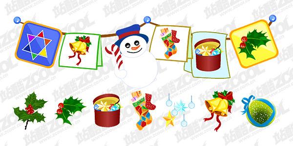 Практические рождественские украшения дизайн вектор материала