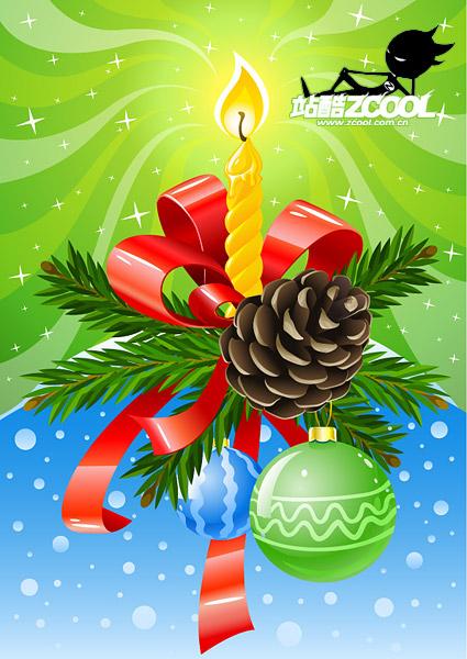 美しく装飾クリスマス ベクトル材料