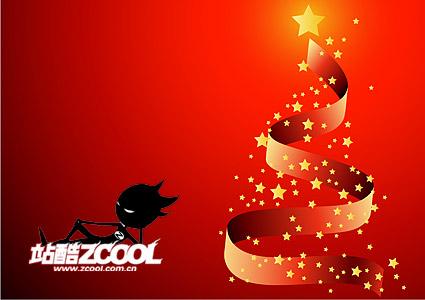 Vector de árbol de Navidad de cinta