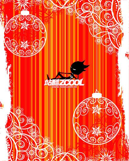 Мода рождественские украшения шаблон вектор материальной сферы