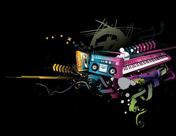Ленты, магнитофоны, радиоприемники, клавиатуры, микрофон