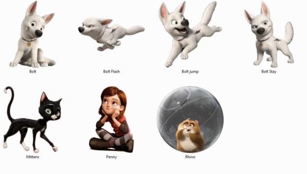 Cartoon Tiere, Hund, Katze-ico