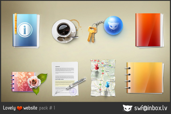 त्रि-आयामी कार्यालय श्रृंखला आइकन सामग्री