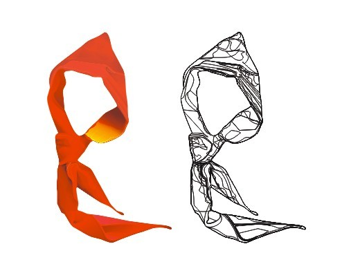 Logo de jeunes pionniers - une écharpe rouge, matériel de vecteur