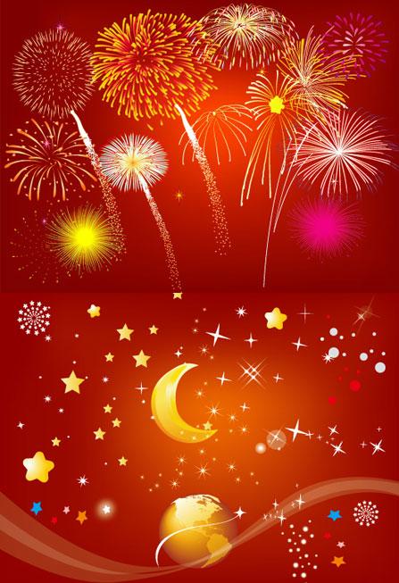 Festival Fireworks vectorial