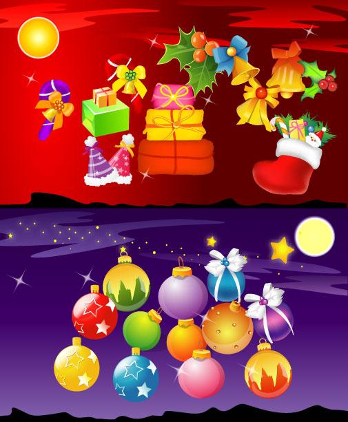 Material de vectores de elemento de Navidad