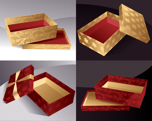 Caja de regalo, vector de cuadro