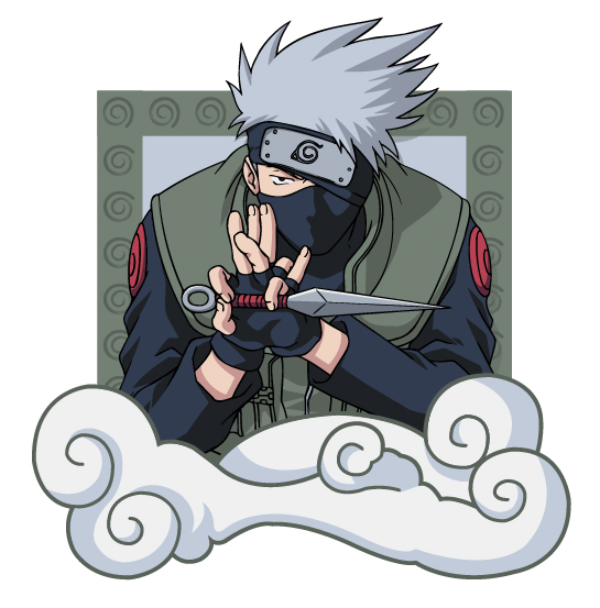 Naruto-ナルト-文字材料-4 をベクトルします。