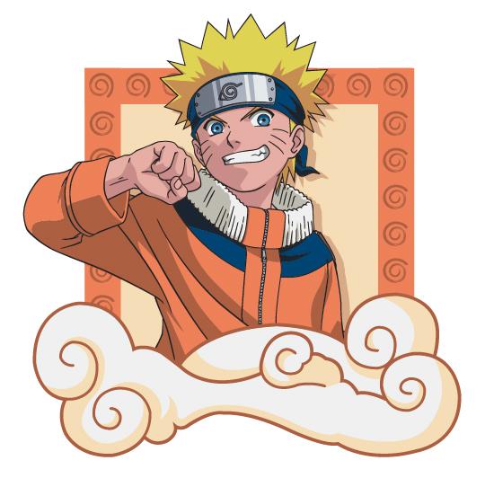 Naruto-ナルト-文字材料-1 をベクトルします。