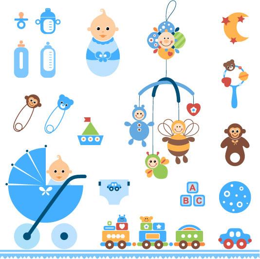 Brinquedos para bebés de vetor