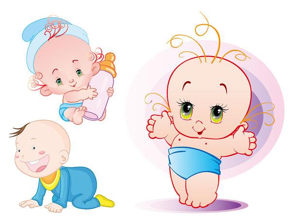 Material de vetor de bebê bonito