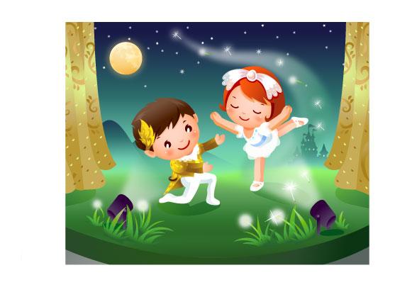 Material de vector de palabra clave para niños bailando amo la ...