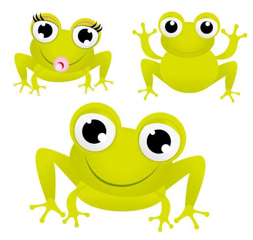 La grenouille verte avec grands yeux vecteur