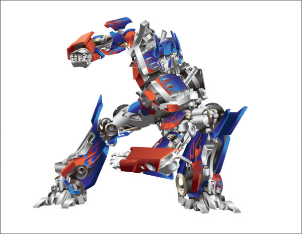 Transformers Optimus นายกเวกเตอร์