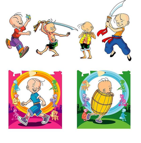 vector de personajes de dibujos animados
