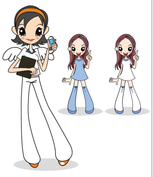 Teléfono Angel Girl Vector