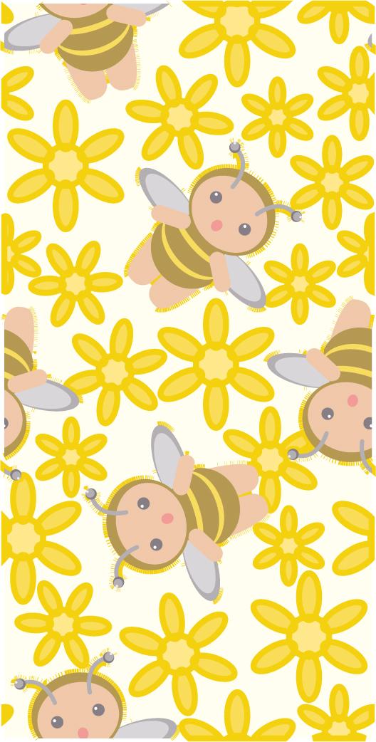 花蜂ベクトルの連続の背景