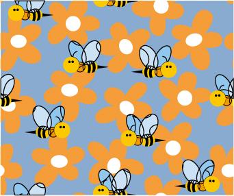 ผึ้งดอกไม้เวกเตอร์