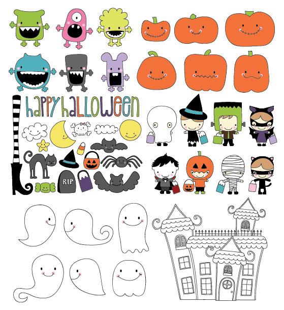 Vetor de tema Halloween