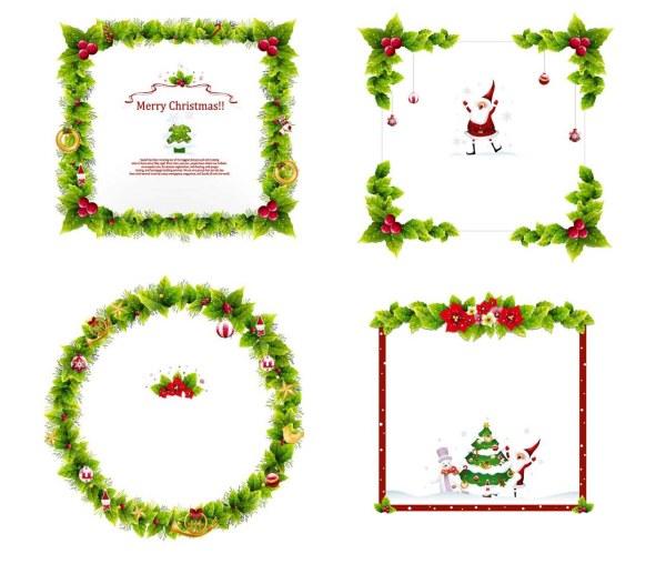 Weihnachtskranz Vektor-Grenzen