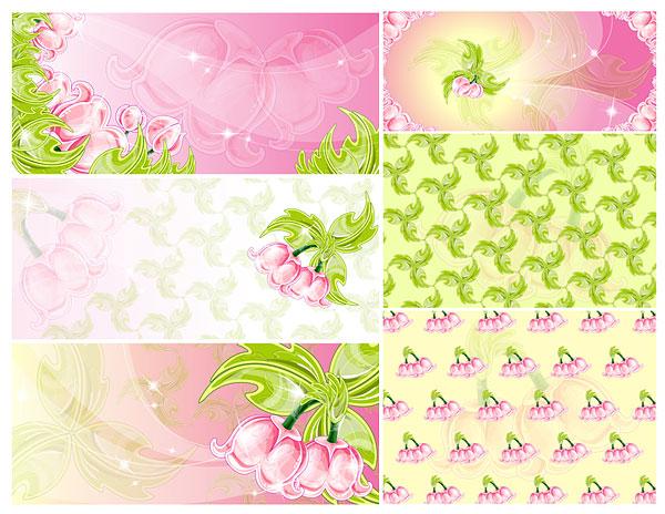 Fleurs roses vecteur