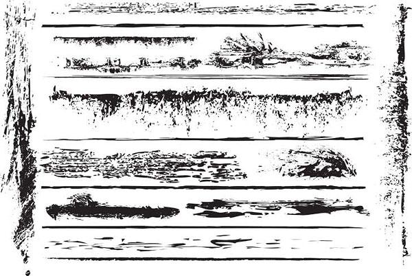 Serie de elementos de diseño blanco y negro de vectores de material -16 (trace)