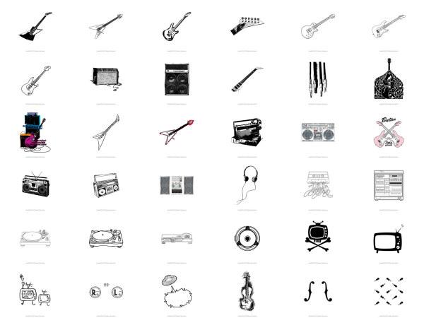 ギター、スピーカー、ラジオ DJ
