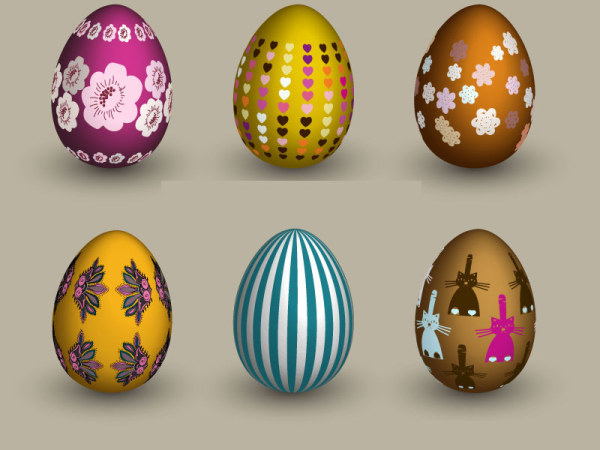 6 яиц векторного материала