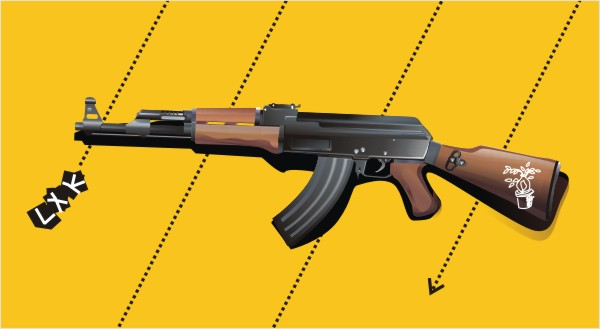 Vector de fusiles AK47