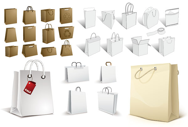 Bolsa, bolsa de papel, bolsas de papel kraft