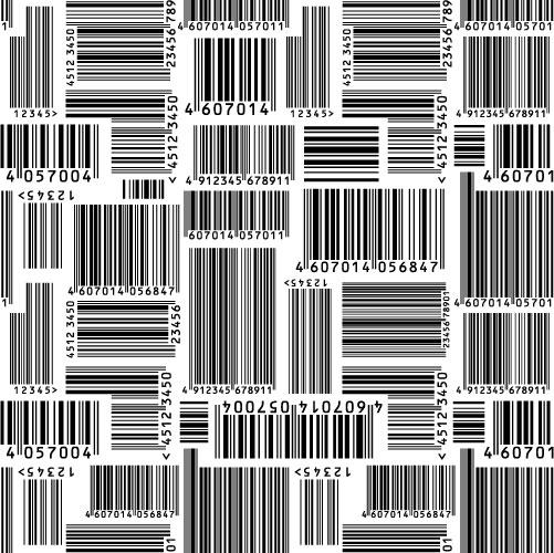 Matériau de vecteur de code à barres