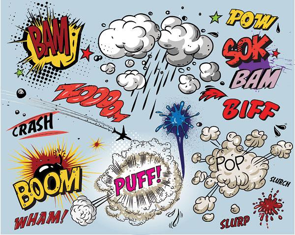 Bombas de explosión, humo,