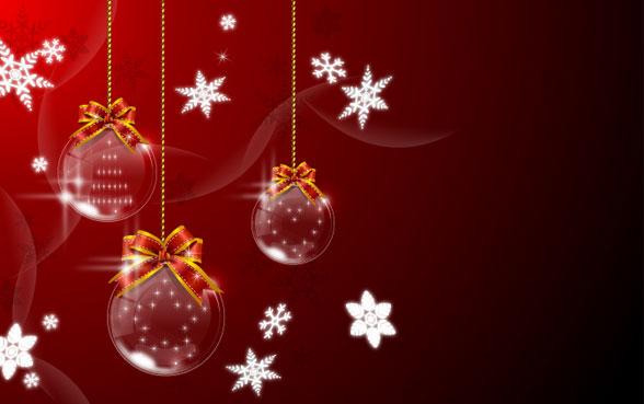 Рождество, висит мяч векторного материала -1